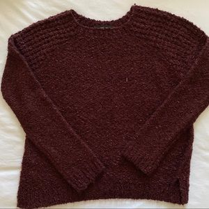 Burgundy Knit Sweater (forever 21)